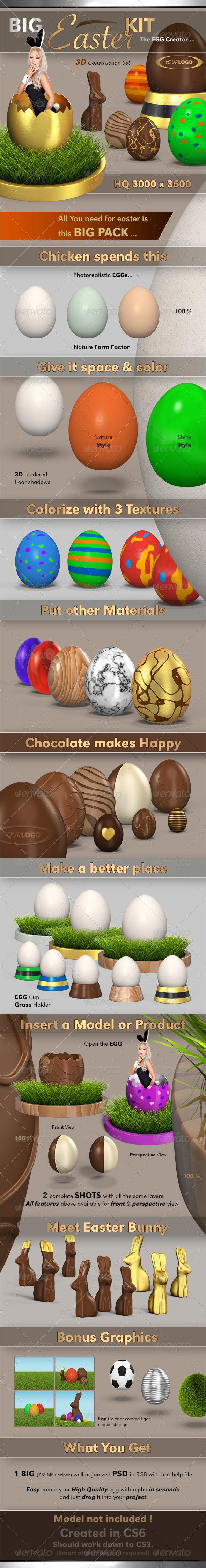GraphicRiver Easter Egg Kit 4009288