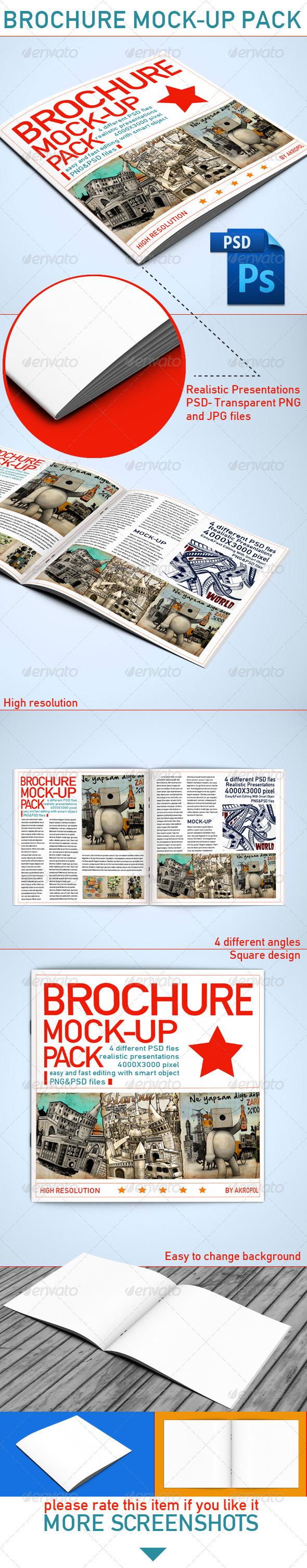 GraphicRiver Brochure Mock Up 4016143