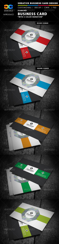 GraphicRiver Diamond Business Card 4017851