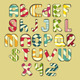 Multicolored Striped Alphabet - GraphicRiver Item for Sale