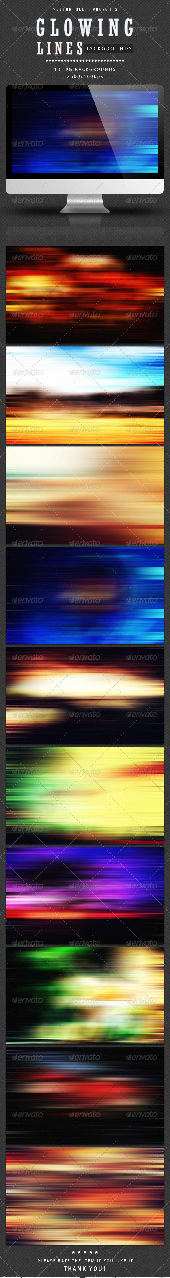 GraphicRiver Glowing Lines Backgrounds 4023785