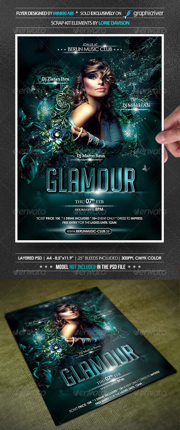 Glamour Party Poster Flyer Graphicriver