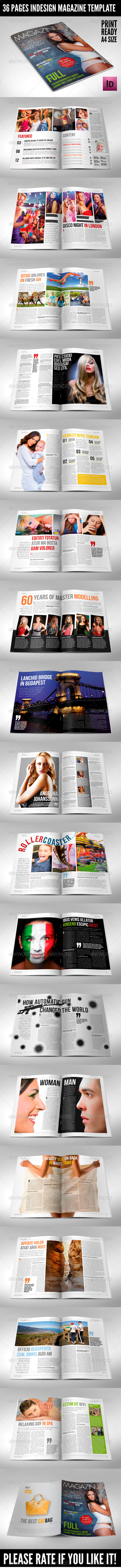 GraphicRiver 36 Pages Modern Magazine InDesign Template 4033949
