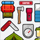 Camping graphics - GraphicRiver Item for Sale