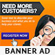 Lead Conversion Banner Ad PSD Template - GraphicRiver Item for Sale