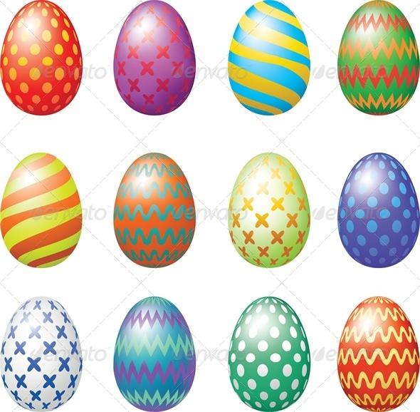 GraphicRiver Easter Eggs Set 4042964