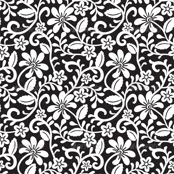GraphicRiver Seamless Lace Floral Pattern 4043110