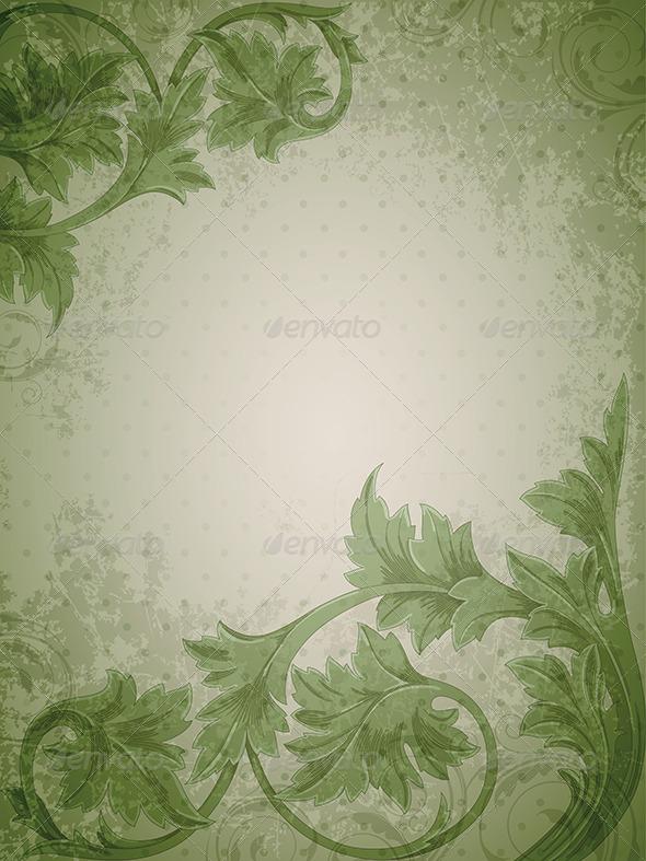 green vintage wallpaper - photo #16