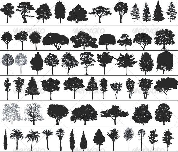 GraphicRiver Vector Trees 4043151