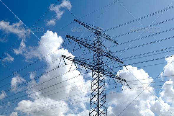 PhotoDune high-voltage line over sky 4102091