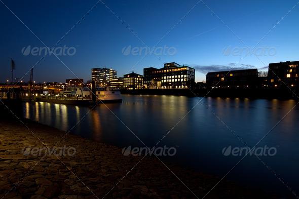 PhotoDune Bremen city at night 4102147
