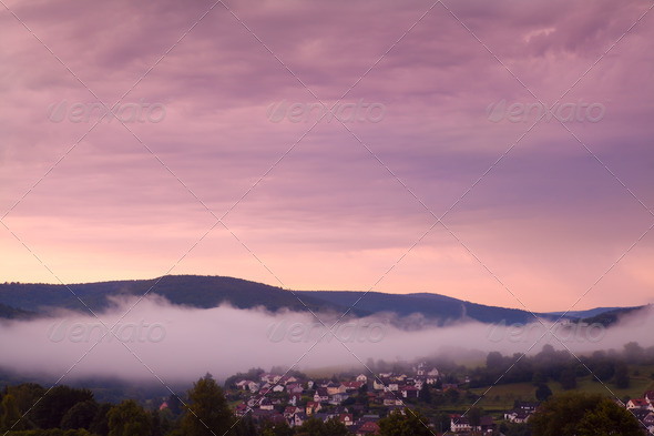 PhotoDune Bavarian town at sunrise 4102177
