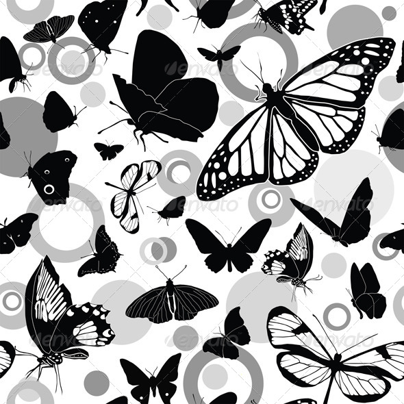 GraphicRiver Seamless Pattern with Butterflies 4043468