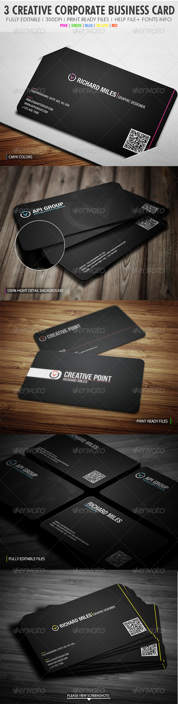 GraphicRiver 3 In 1 Creative Corporate Bundle 4043860