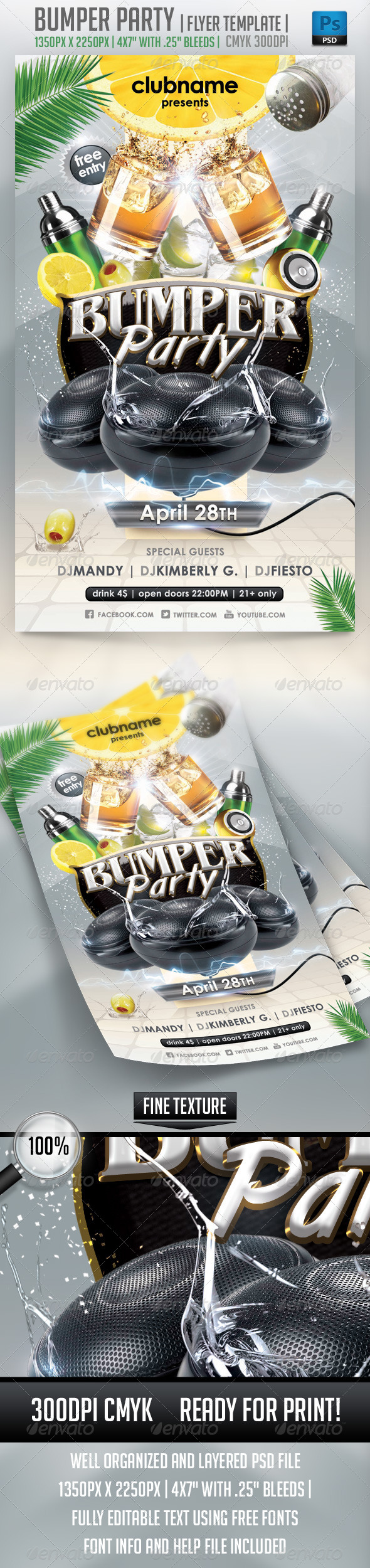 GraphicRiver Bumper Party Flyer Template 4044110