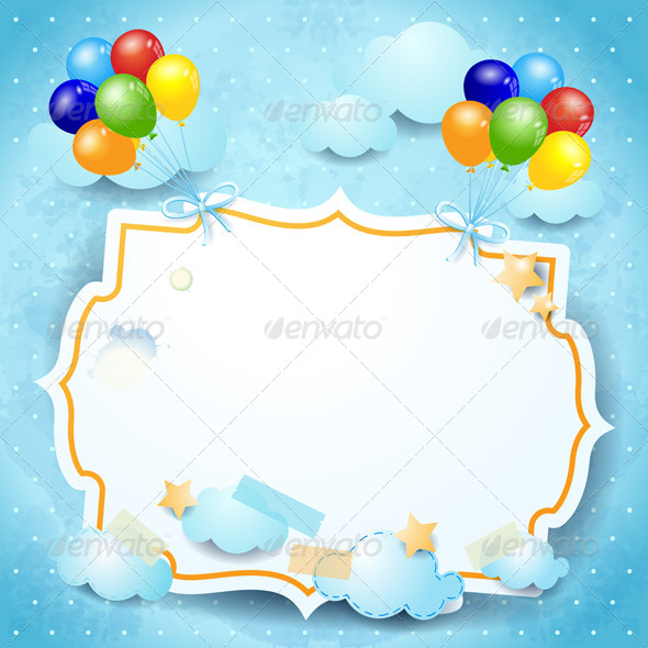 GraphicRiver Balloons and custom board 4044411