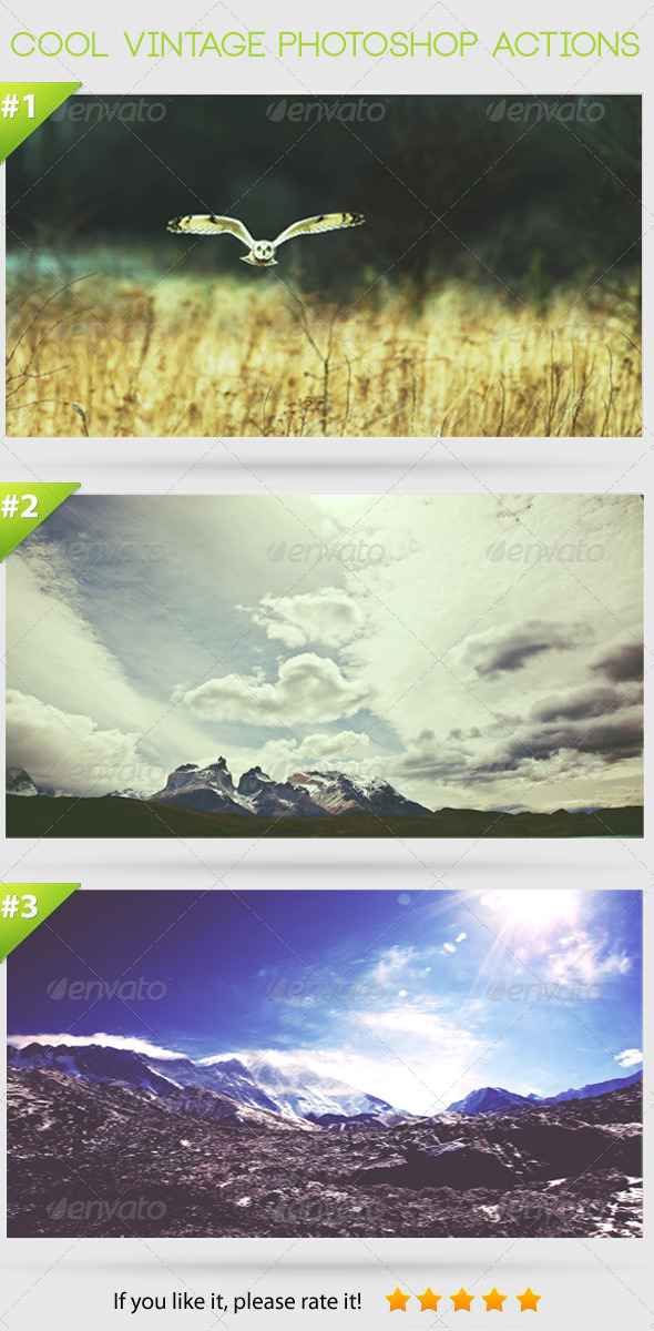 GraphicRiver Cool Vintage Photoshop Actions 4046045