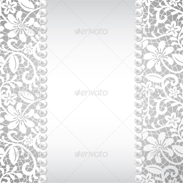 GraphicRiver wedding greeting or invitation card with pearl an 4046048