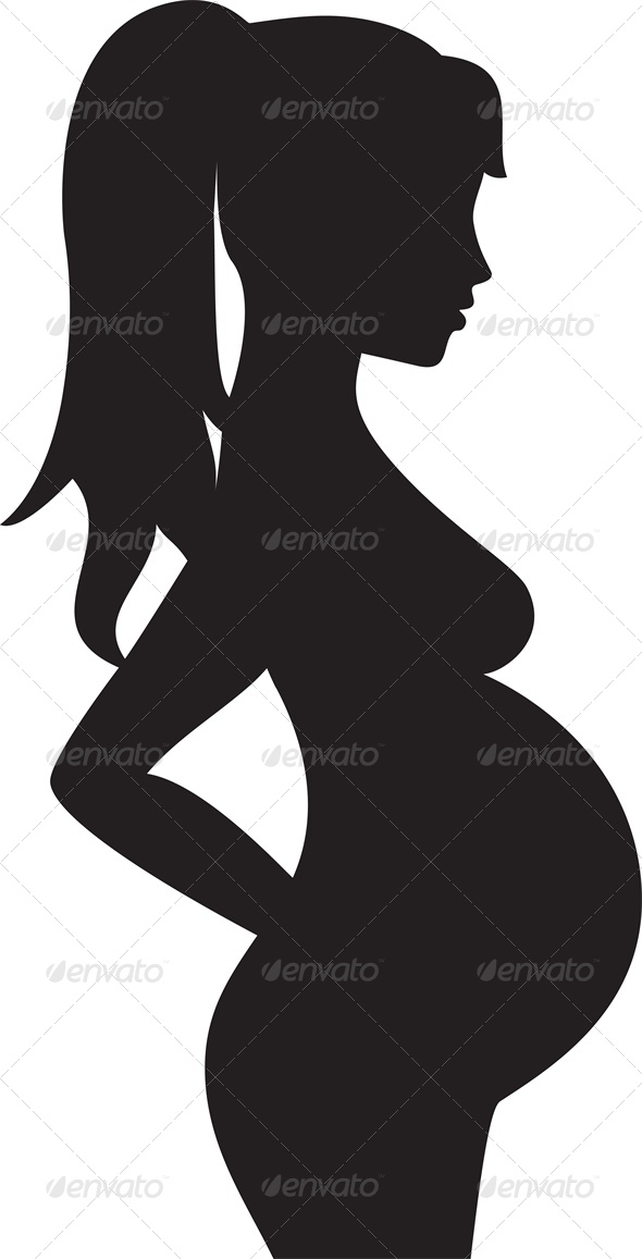 GraphicRiver Silhouette of a Pregnant Woman 4046069