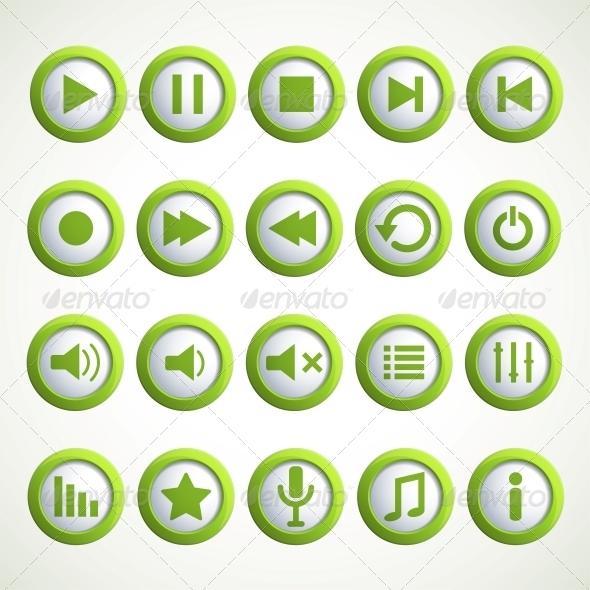 GraphicRiver Media player icon 4055568