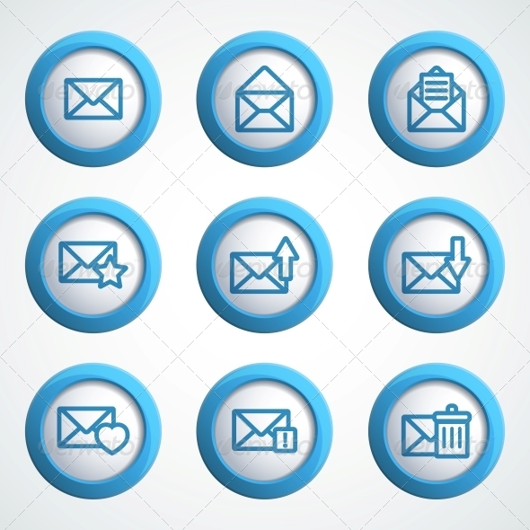 GraphicRiver Message icons 4055569
