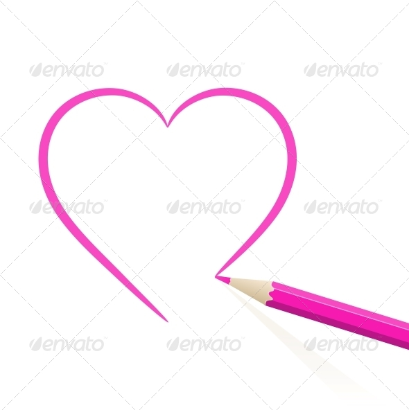 GraphicRiver Hand drawn heart 4055611
