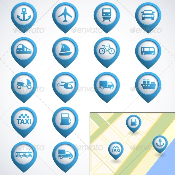 GraphicRiver Transport icons set 4055665
