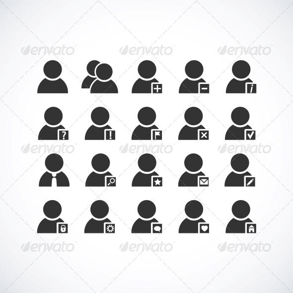 GraphicRiver User icons set 4055685
