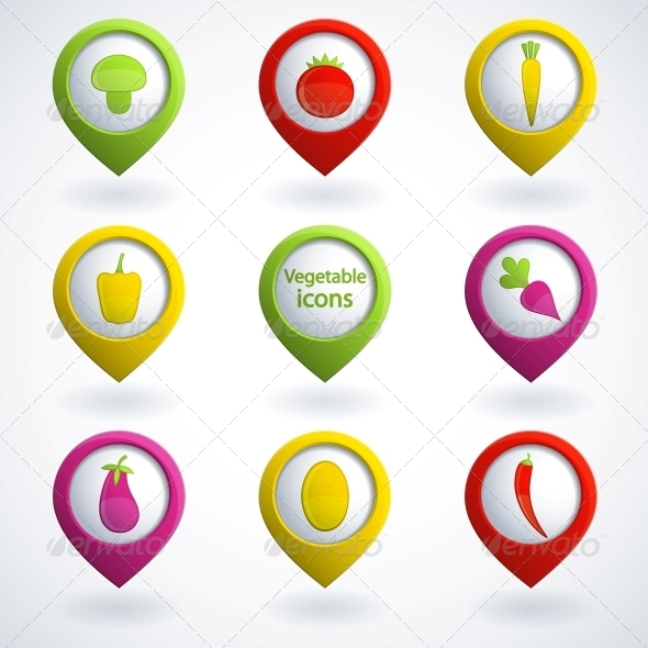 GraphicRiver Vegetable icons 4055686
