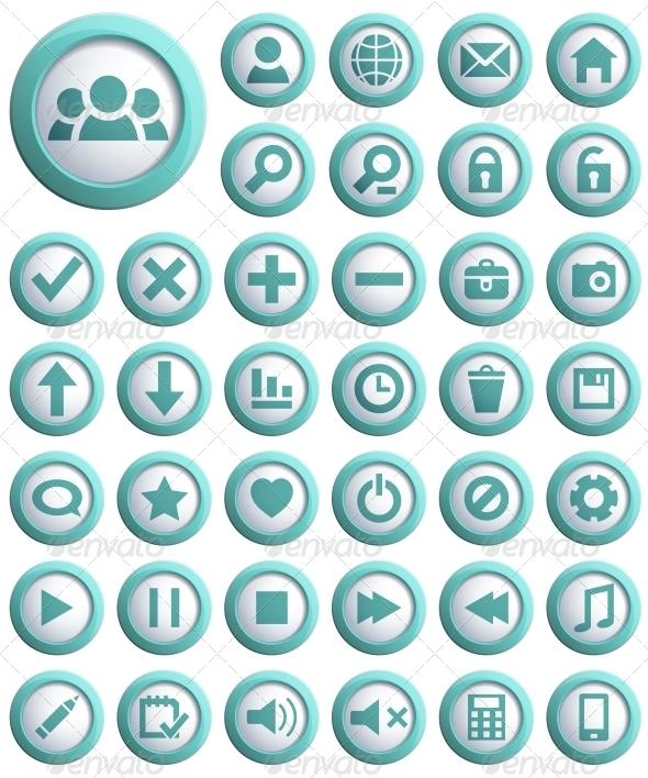 GraphicRiver Web Icon Set 4055710