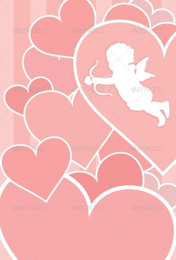 GraphicRiver Valentine Card Design 4056051