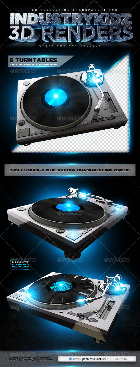 GraphicRiver Turntable 3D Renders 4056232