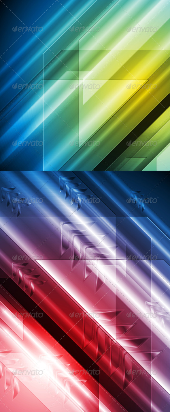 GraphicRiver Colourful Hi-Tech Vector Backgrounds 4057761