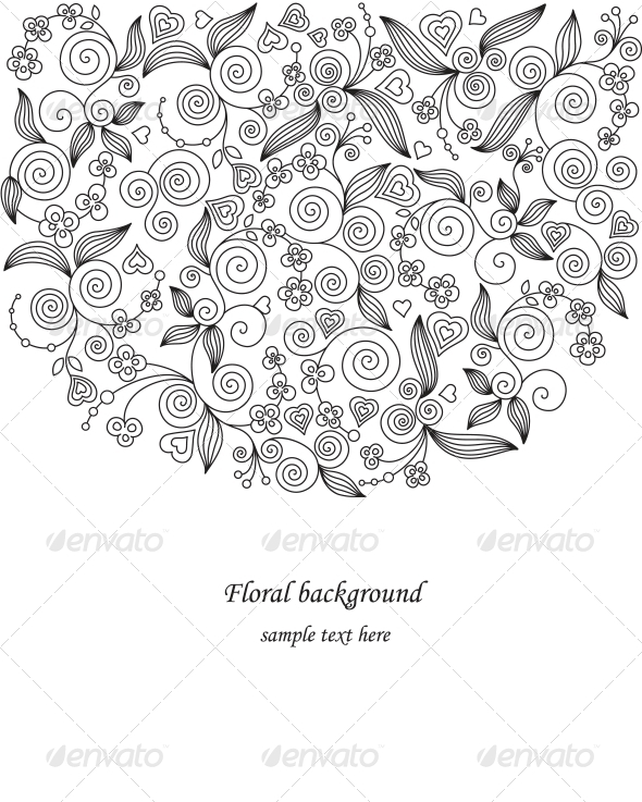 GraphicRiver Decorative flower illustration 4061692