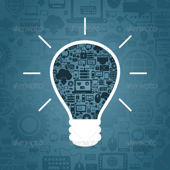 GraphicRiver Computer a bulb 4062306