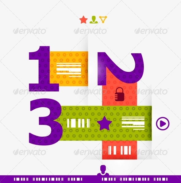 GraphicRiver Numbered Banners Infographics 4063273