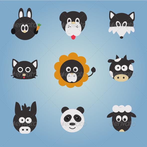 GraphicRiver Animal Vector Set 4063285