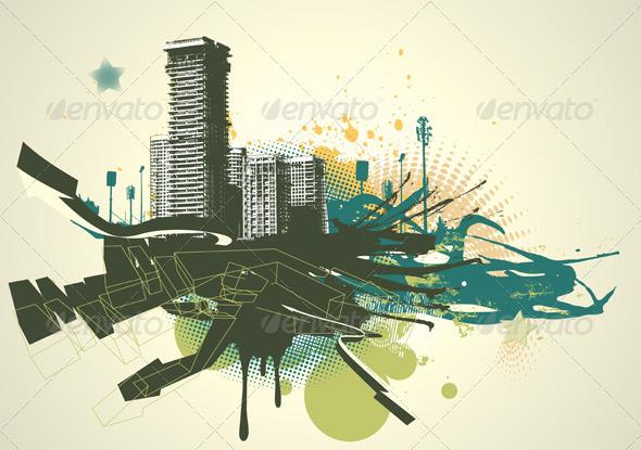 GraphicRiver Urban Grunge Background 4064957