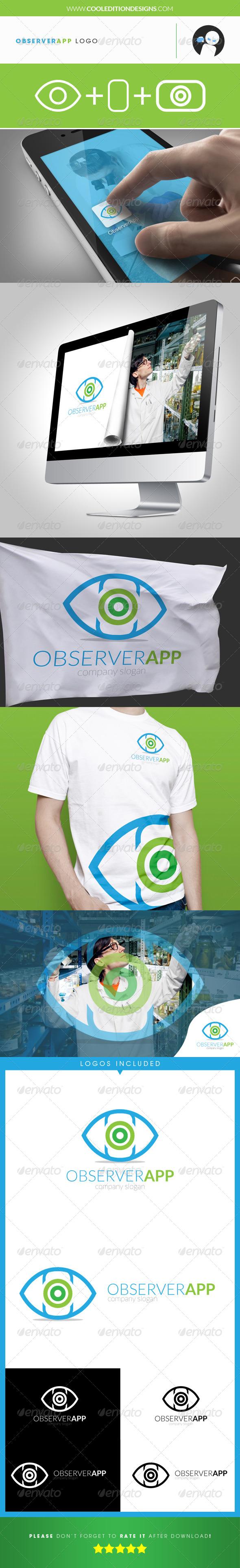 GraphicRiver Observer App Logo Template 4065347
