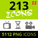 213 Rough Icons (Icons Set - Part II) - GraphicRiver Item for Sale
