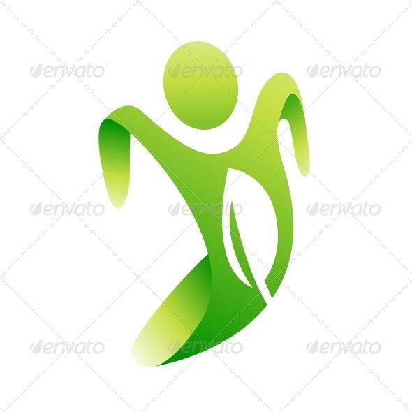 GraphicRiver Eco Man Icon 4066030