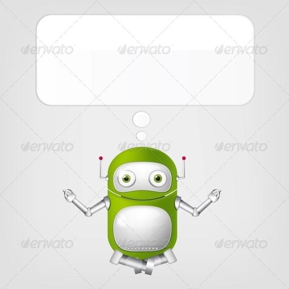 GraphicRiver Cute Robot 4066313