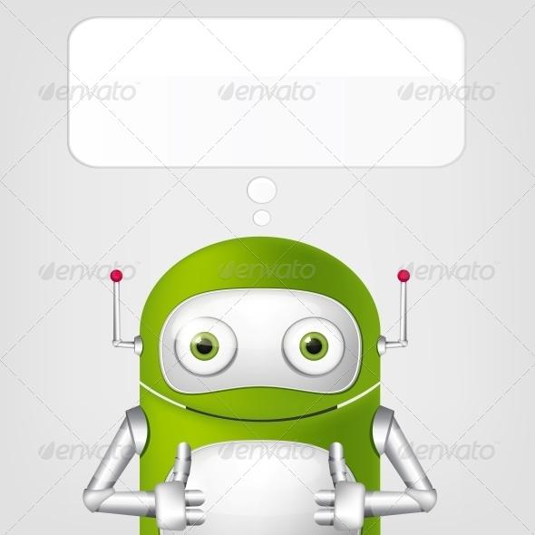 GraphicRiver Cute Robot 4066317
