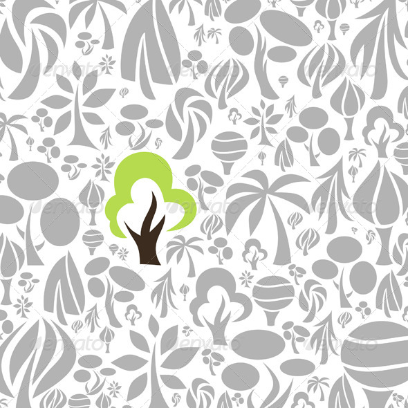 GraphicRiver Tree Background 4066863
