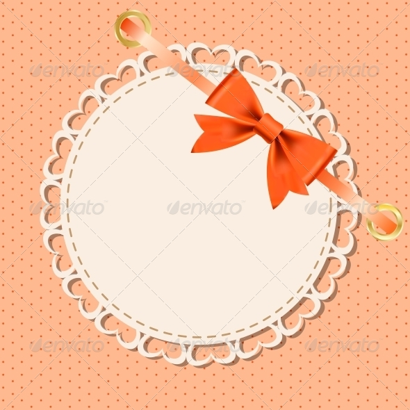 GraphicRiver Vector Greeting Card with Frame and Bow 4067311