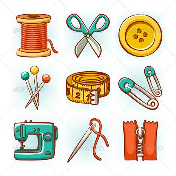 GraphicRiver Sewing Set 4067625