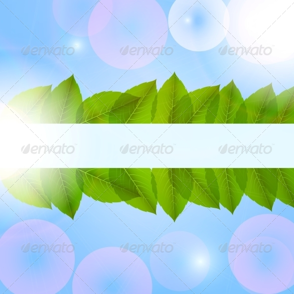 GraphicRiver Leaves in the Sky Vector 4067760