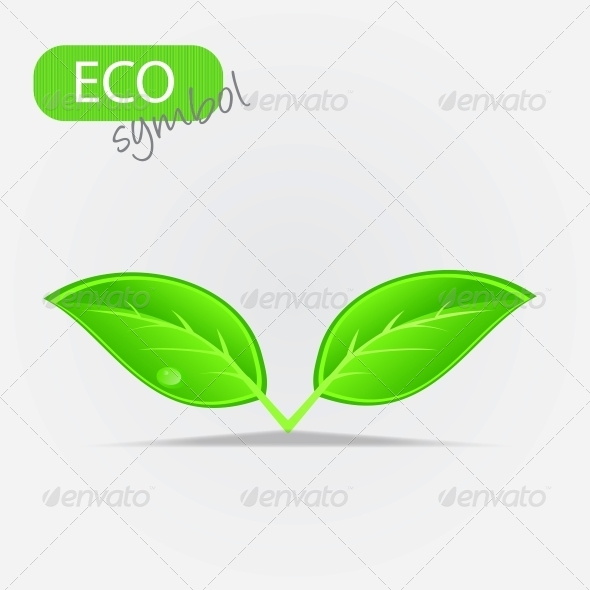 GraphicRiver Environmental Icon with Plant 4067806