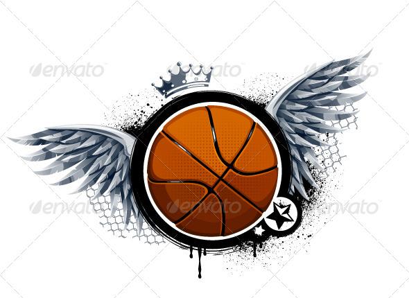 GraphicRiver Grunge Image with Basketball 4072964