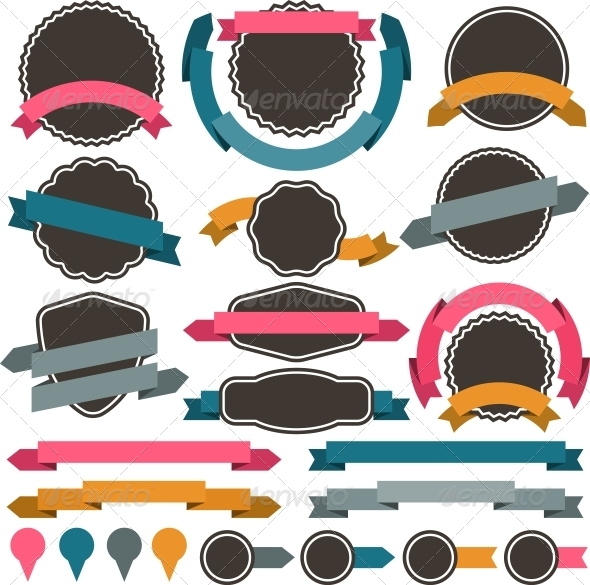 GraphicRiver Set of Retro Design Elements 4073101